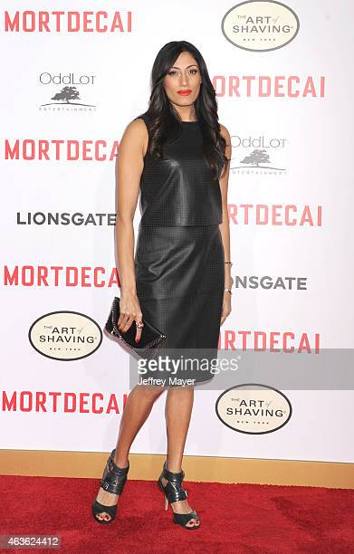 Actress Tehmina Sunny arrives at The Los Angeles Premiere Of 'Mortdecai' at TCL Chinese Theatre on January 21 2015 in Hollywood California