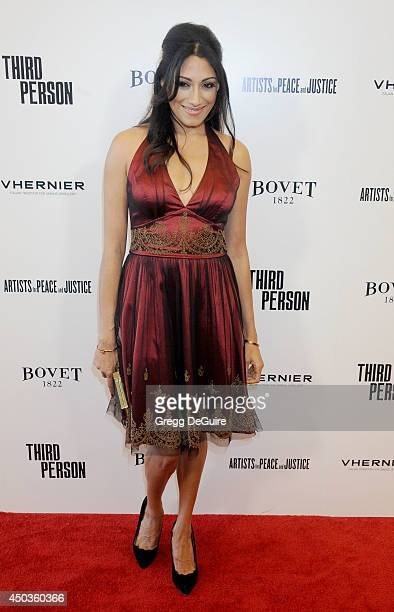 Actress Tehmina Sunny arrives at the Los Angeles premiere of 'Third Person' at Pickford Center for Motion Study on June 9 2014 in Hollywood California