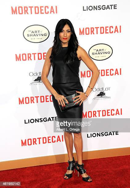 Actress Tehmina Sunny arrives for the Premiere Of Lionsgate's 'Mortdecai' held at TCL Chinese Theatre on January 21 2015 in Hollywood California