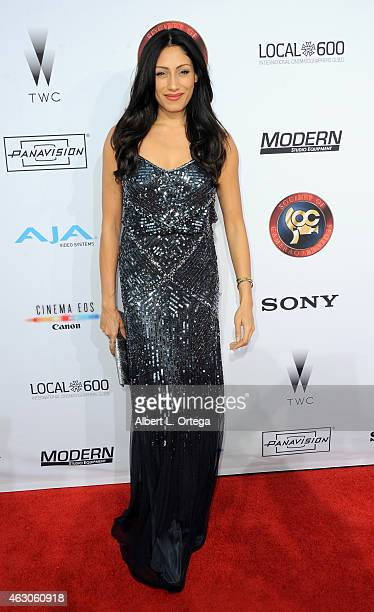 Actress Tehmina Sunny at the 2015 Society Of Camera Operators Awards held at Paramount Studios on February 8 2015 in Hollywood California