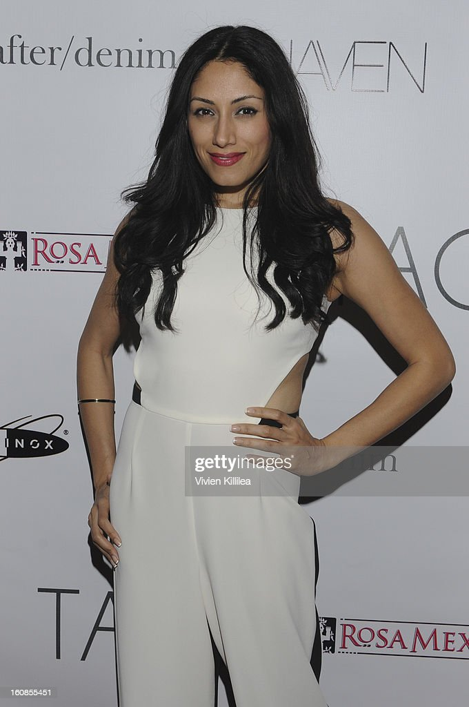 Actress Tehmina Sunny attend TAGS Grand Opening Party on February 6, 2013 in West Hollywood, California.