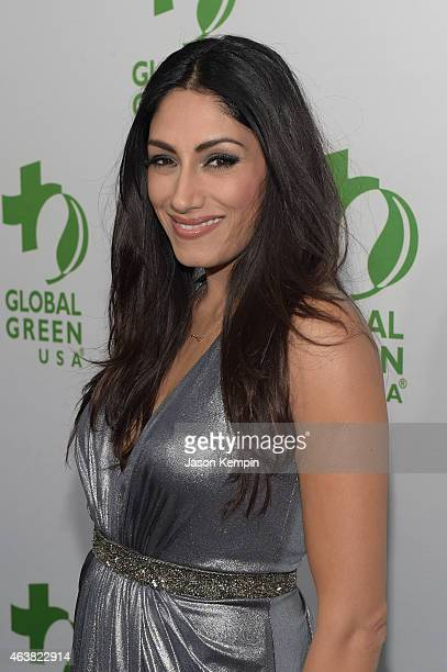 Actress Tehmina Sunny attends Global Green USA's 12th annual preOscar party at AVALON Hollywood on February 18 2015 in Hollywood California