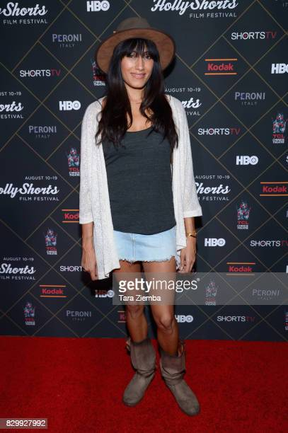 Actress Tehmina Sunny attends the 2017 HollyShorts Film Festival Opening Night Gala at TCL Chinese 6 Theatres on August 10 2017 in Hollywood...