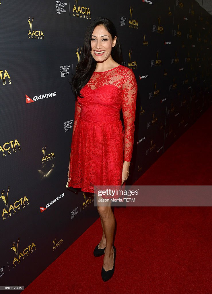 Actress Tehmina Sunny attends the Australian Academy of Cinema and Television Arts' 2nd AACTA International Awards at Soho House on January 26, 2013 in West Hollywood, California.