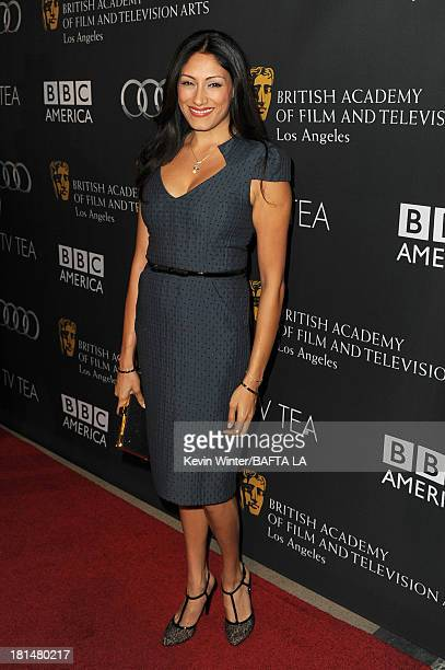 Actress Tehmina Sunny attends the BAFTA LA TV Tea 2013 presented by BBC America and Audi held at the SLS Hotel on September 21 2013 in Beverly Hills...