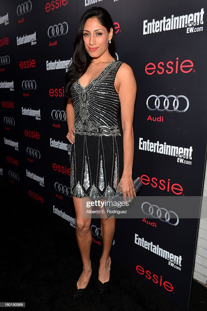 Actress Tehmina Sunny attends the Entertainment Weekly Pre-SAG Party hosted by Essie and Audi held at Chateau Marmont on January 26, 2013 in Los Angeles, California.