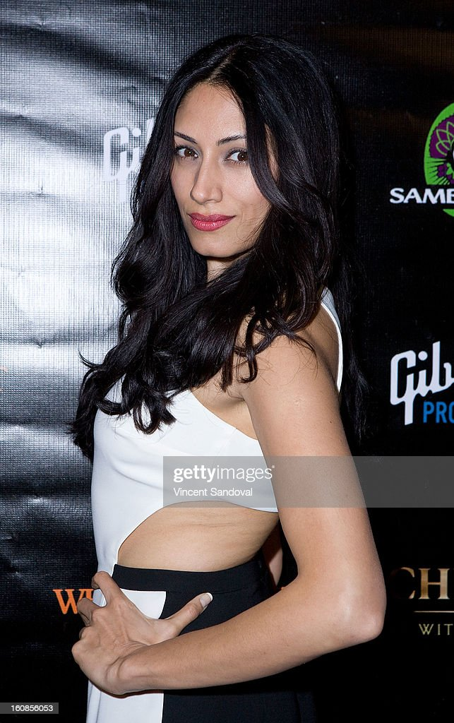 Actress Tehmina Sunny attends The Grammy Awards: Whole Planet Foundation pre-Grammy benefit concert at East West Recording Studio on February 6, 2013 in Hollywood, California.