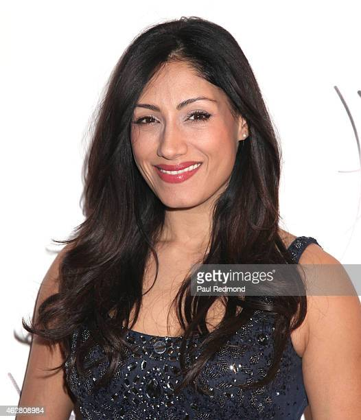 Actress Tehmina Sunny attends the Grand Opening Party at Harper Salon on January 24 2015 in Los Angeles California
