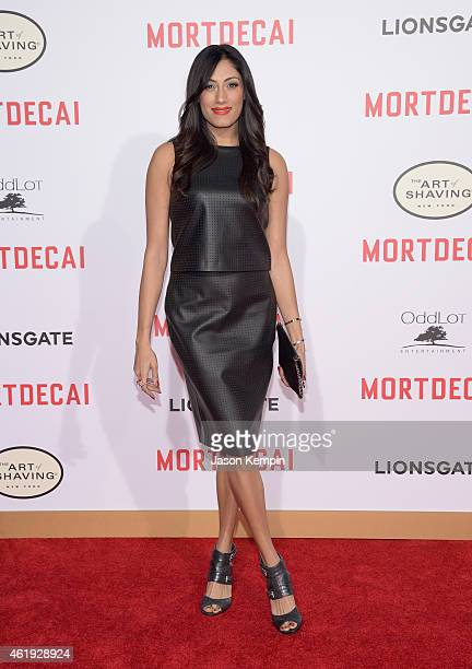 Actress Tehmina Sunny attends the premiere of Lionsgate's 'Mortdecai' at TCL Chinese Theatre on January 21 2015 in Hollywood California