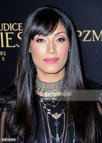 Actress Tehmina Sunny attends the Premiere of Screen Gems' 'Pride And Prejudice And Zombies' at Harmony Gold Theatre on January 21 2016 in Los...