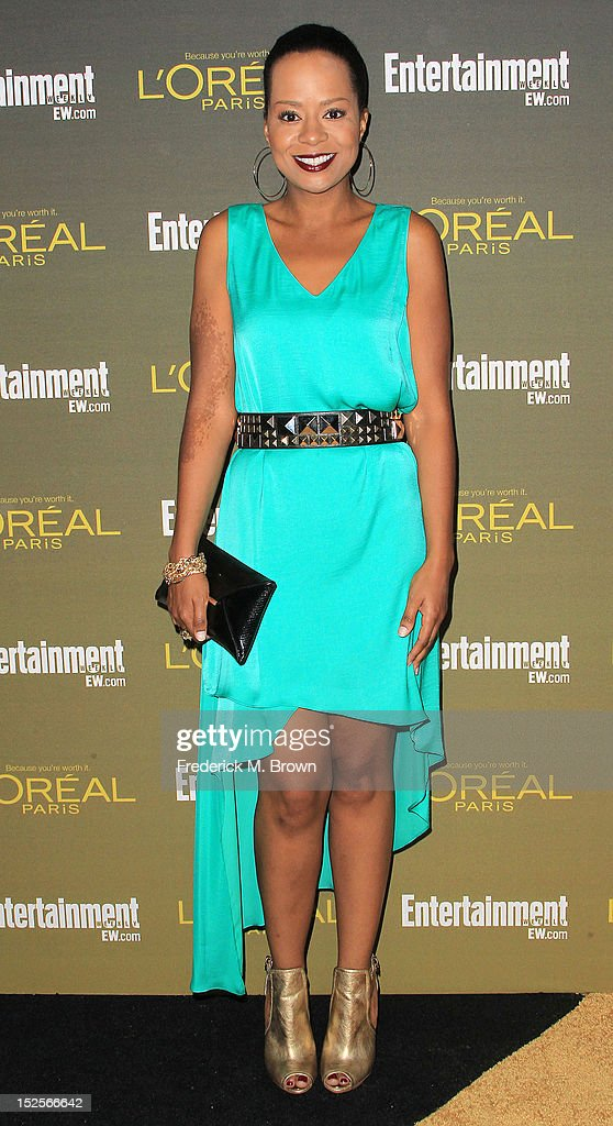 Actress <a gi-track='captionPersonalityLinkClicked' href=/galleries/search?phrase=Tempestt+Bledsoe&family=editorial&specificpeople=1064991 ng-click='$event.stopPropagation()'>Tempestt Bledsoe</a> attends the 2012 Entertainment Weekly Pre-Emmy Party at the Fig & Olive on September 21, 2012 in West Hollywood, California.
