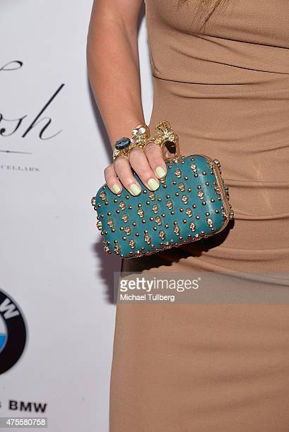 Actress Tenille Houston handbag detail attends the 'Breaking The Silence' fundraiser to combat domestic violence at Avalon on June 1 2015 in...