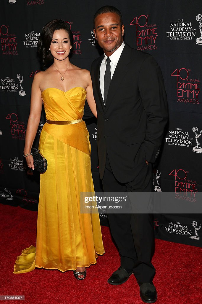 Actress Teresa Castillo (L) and actor Marc Anthony Samuel attend The National Academy Of Television Arts & Sciences Presents The 40th Annual Daytime Entertainment Creative Arts Emmy Awards at Westin Bonaventure Hotel on June 14, 2013 in Los Angeles, California.