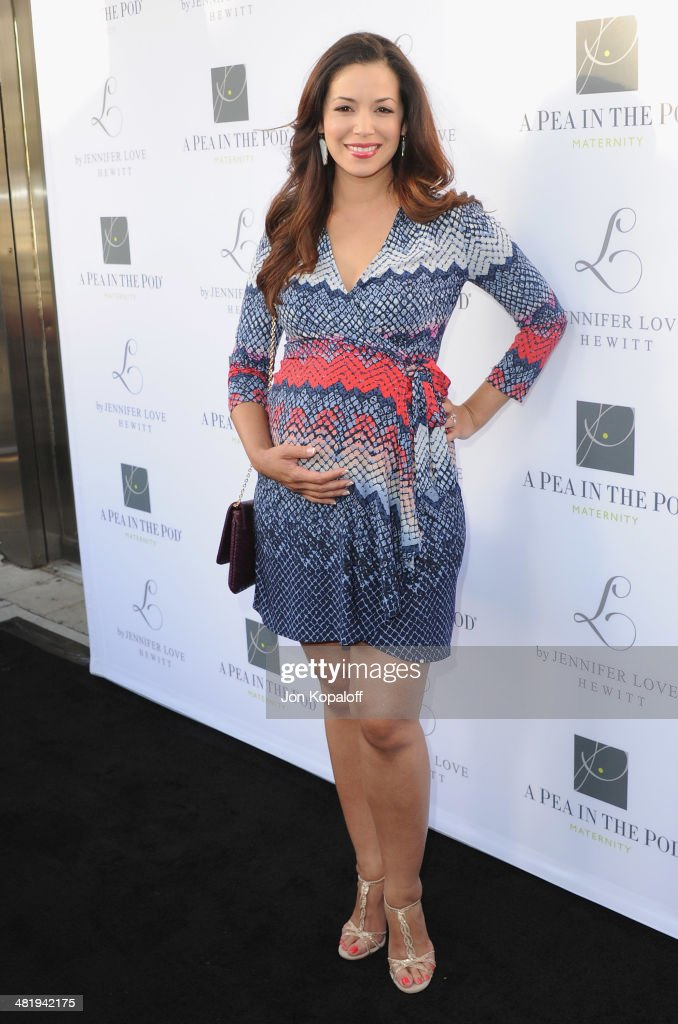 Actress Teresa Castillo arrives at A Pea In The Pod And Jennifer Love Hewitt Celebrate The Launch Of 'L By Jennifer Love Hewitt' at A Pea In The Pod on April 1, 2014 in Beverly Hills, California.