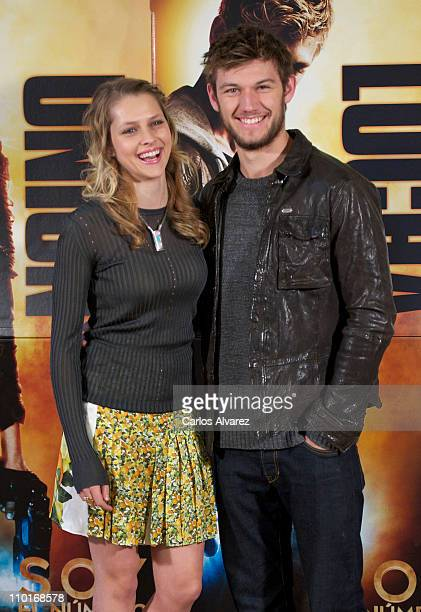 Actress Teresa Palmer and actor Alex Pettyfer attend ''I Am Number Four' photocall at Santo Mauro Hotel on March 16 2011 in Madrid Spain