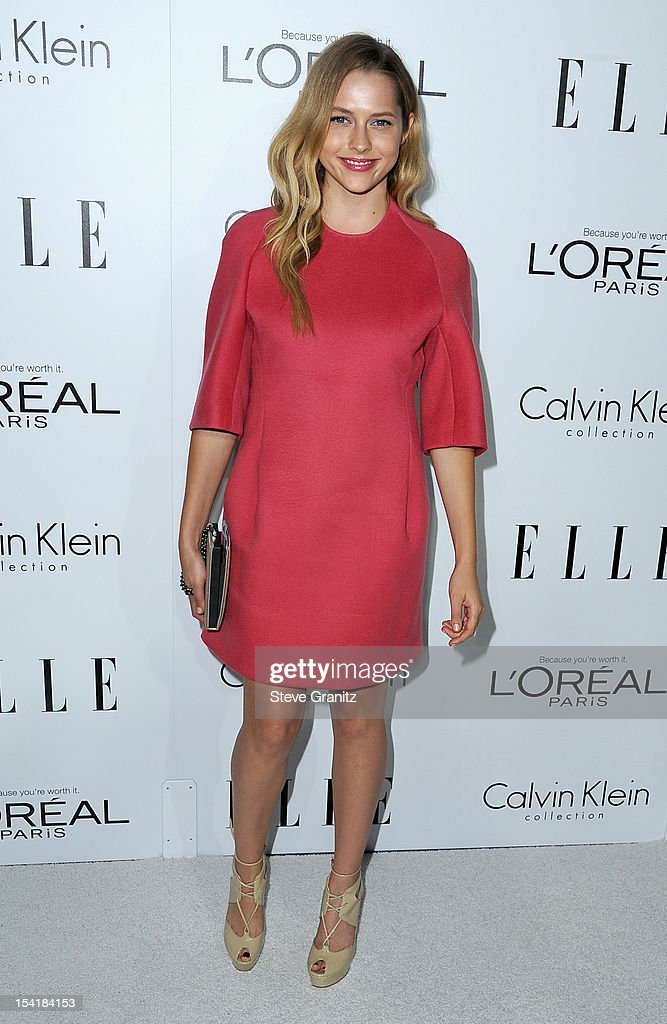 Actress Teresa Palmer arrives at ELLE's 19th Annual Women In Hollywood Celebration at the Four Seasons Hotel on October 15, 2012 in Beverly Hills, California.