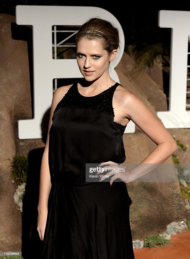 Actress Teresa Palmer arrives at the after party for the opening of Hermes Beverly Hills Boutique at 3 Labs on September 3, 2013 in Culver City, California.
