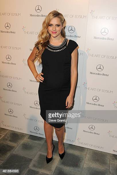 Actress Teresa Palmer arrives at The Art of Elysium's 7th Annual HEAVEN Gala presented by MercedesBenz at Skirball Cultural Center on January 11 2014...