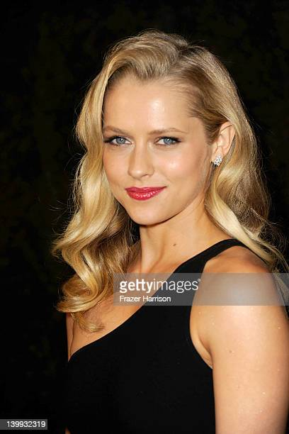 Actress Teresa Palmer arrives at the Chanel And Charles Finch PreOscar Dinner at Madeo Restaurant on February 25 2012 in Los Angeles California