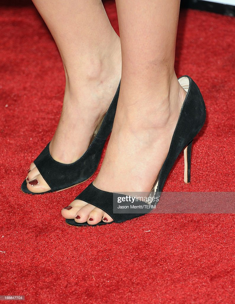 Actress Teresa Palmer (shoe detail) arrives at the 'Lincoln' premiere during AFI Fest 2012 presented by Audi at Grauman's Chinese Theatre on November 8, 2012 in Hollywood, California.