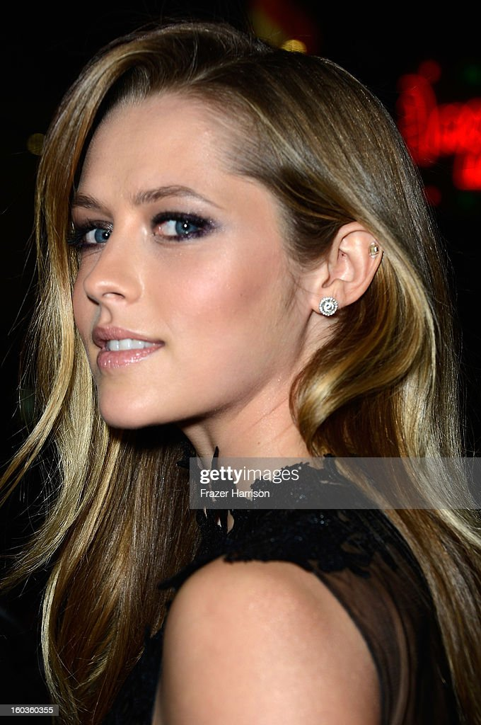 Actress Teresa Palmer arrives at the premiere of Summit Entertainment's 'Warm Bodies' at ArcLight Cinemas Cinerama Dome on January 29, 2013 in Hollywood, California.