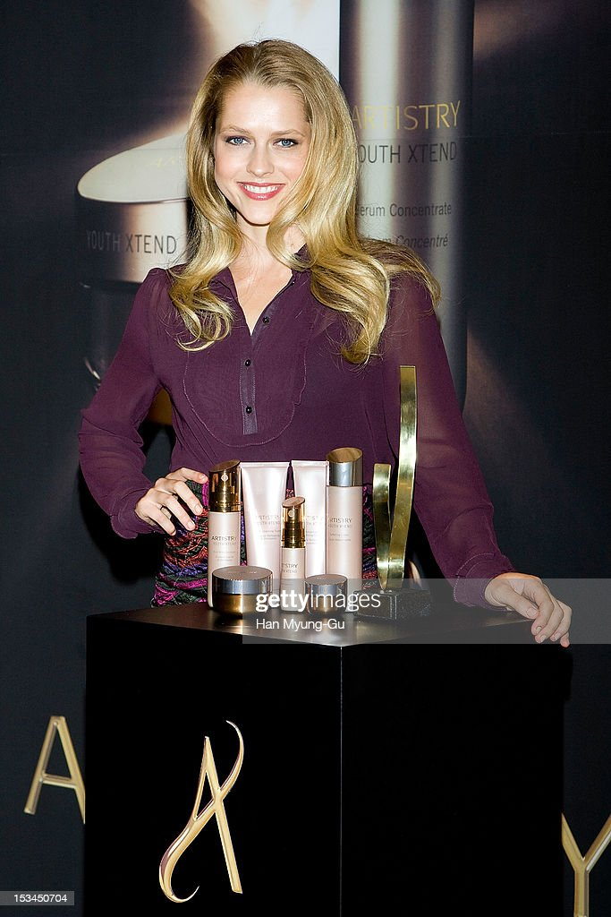 Actress Teresa Palmer attends during the Promotional event of 'Artistry' at Shilla Hotel on October 4 2012 in Seoul South Korea