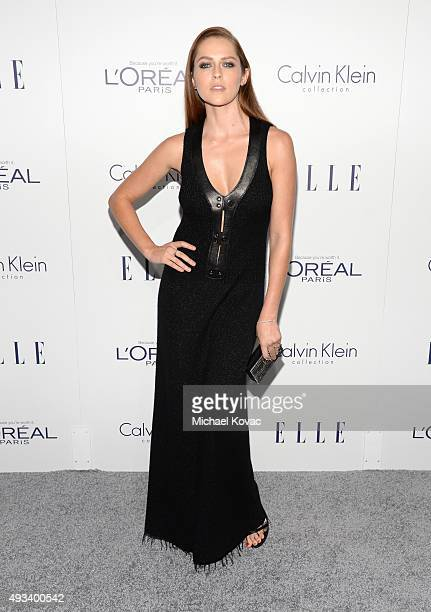 Actress Teresa Palmer attends the 22nd Annual ELLE Women in Hollywood Awards at Four Seasons Hotel Los Angeles at Beverly Hills on October 19 2015 in...