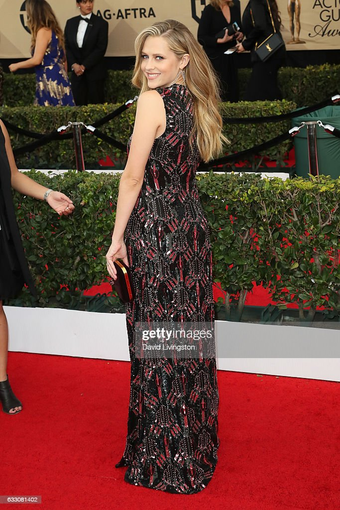 Actress Teresa Palmer attends the 23rd Annual Screen Actors Guild Awards at The Shrine Expo Hall on January 29, 2017 in Los Angeles, California.