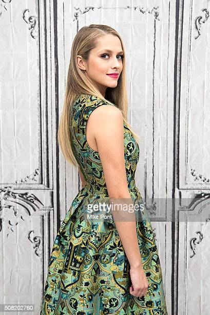 Actress Teresa Palmer attends the AOL Build Speaker Series to discuss the movie 'The Choice' at AOL Studios In New York on February 3 2016 in New...