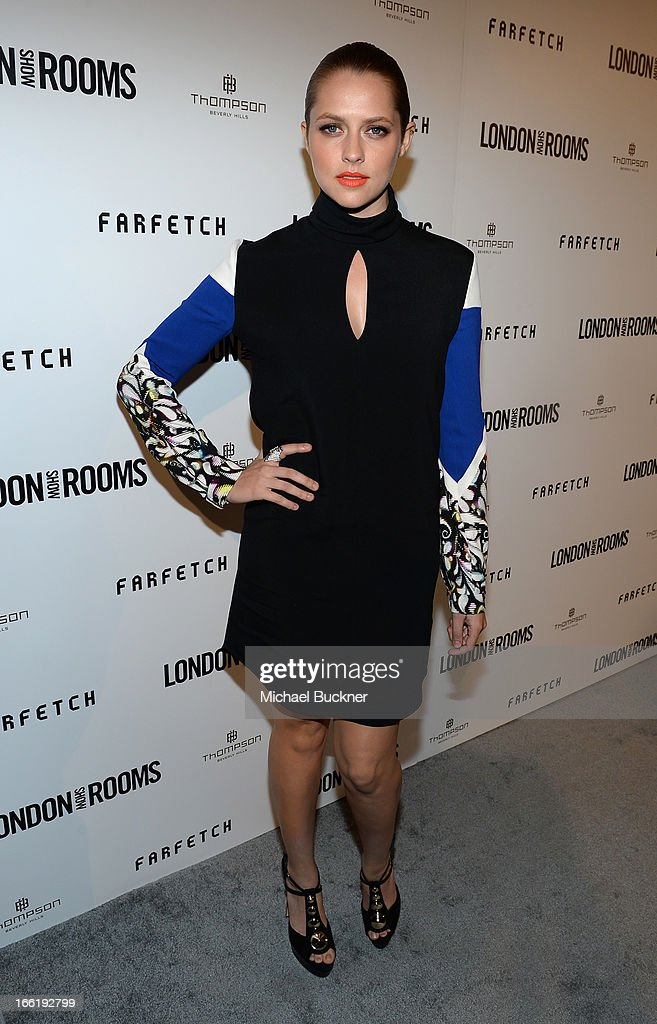 Actress Teresa Palmer attends the British Fashion Council LONDON Show ROOMS LA AW13 Opening Party at Thompson Hotel on April 9, 2013 in Beverly Hills, California.