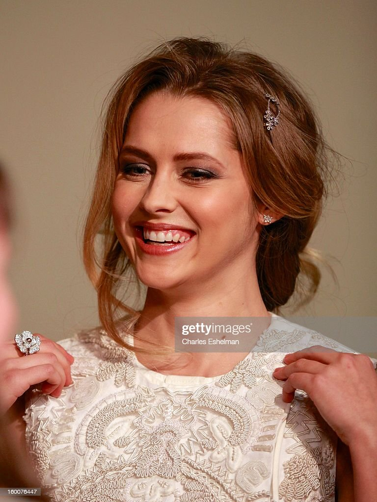 Actress Teresa Palmer attends the Cinema Society and Artistry screening of 'Warm Bodies' at Landmark Sunshine Cinema on January 25, 2013 in New York City.