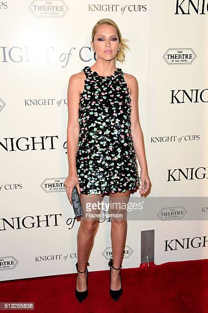 Actress Teresa Palmer attends the premiere of Broad Green Pictures' 'Knight Of Cups' on March 1 2016 in Los Angeles California