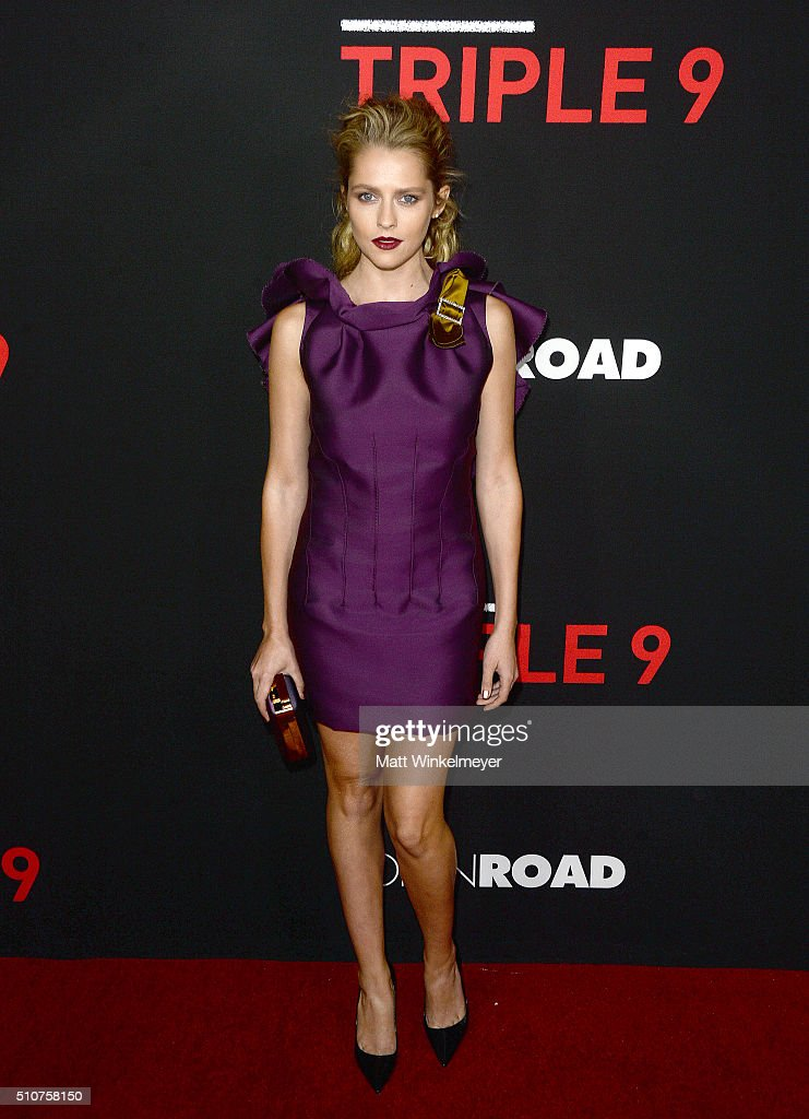 Actress <a gi-track='captionPersonalityLinkClicked' href=/galleries/search?phrase=Teresa+Palmer&family=editorial&specificpeople=612319 ng-click='$event.stopPropagation()'>Teresa Palmer</a> attends the premiere of Open Road's 'Triple 9' at Regal Cinemas L.A. Live on February 16, 2016 in Los Angeles, California.