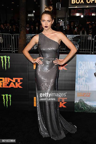 Actress Teresa Palmer attends the premiere of 'Point Break' at TCL Chinese Theatre on December 15 2015 in Hollywood California