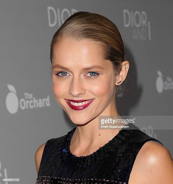 Actress Teresa Palmer attends the premiere of The Orchard's 'DIOR I' at LACMA on April 15 2015 in Los Angeles California