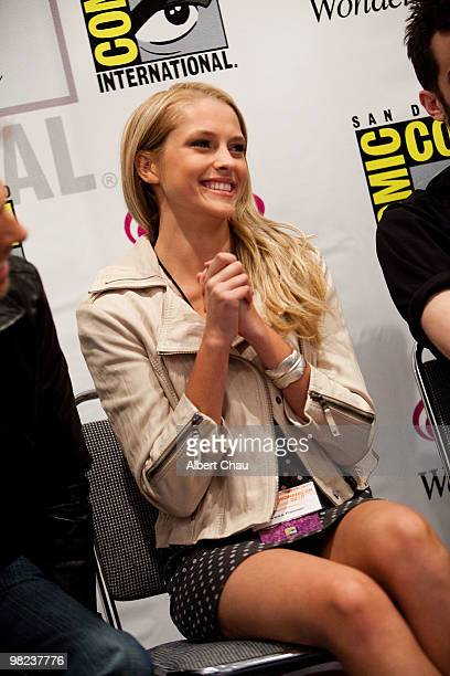Actress Teresa Palmer attends 'The Sorcerer's Apprentice' panel at the 2010 WonderCon Day 2 at Moscone Center South on April 3 2010 in San Francisco...