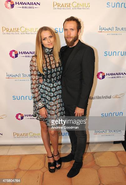 Actress Teresa Palmer recipient of the 2015 Maui Film Festival Rising Star Award and actor/writer Mark Webber attend the 2015 Maui Film Festival at...