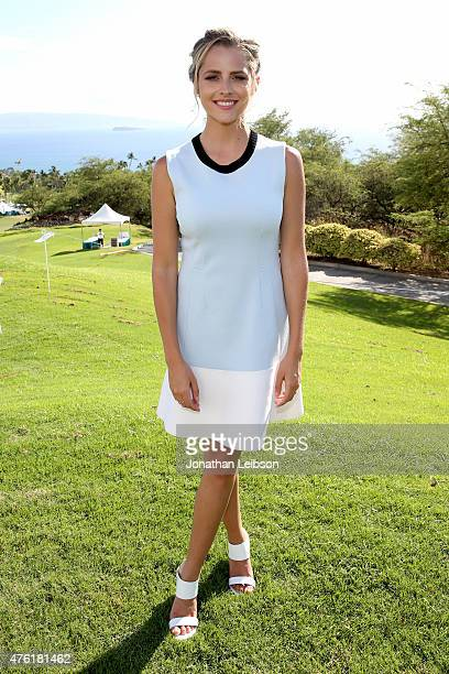 Actress Teresa Palmer recipient of the 2015 Maui Film Festival Rising Star Award attends Taste of Wailea during day four of the 2015 Maui Film...