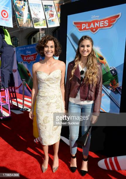 "Actress Teri Hatcher and daughter Emerson Tenney attend the worldpremiere of ""Disney's Planes"" presented by Target at the El Capitan Theatre on..."