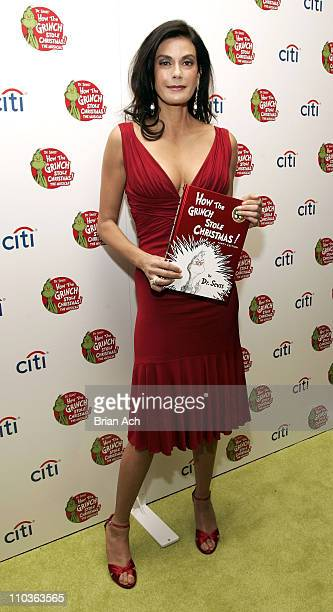 Actress Teri Hatcher at the Broadway opening night premiere of 'How the Grinch Stole Christmas The Musical' on November 9 at the St James Theatre in...