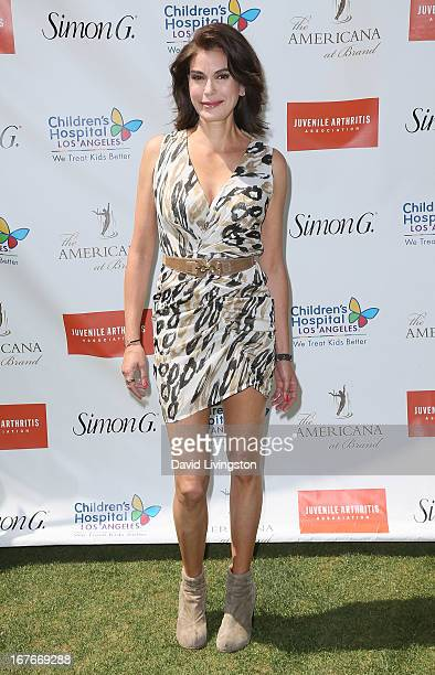 Actress Teri Hatcher attends the Teri Hatcher Celebrity Yard Sale and Auction benefiting the Juvenile Arthritis Association at The Americana at Brand...