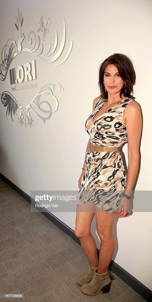 Actress Teri Hatcher is sighted shopping at The Americana at Brand on April 27, 2013 in Los Angeles, California.