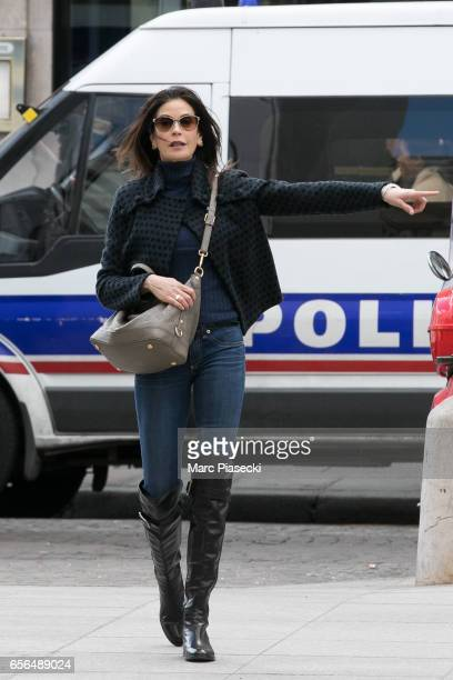 Actress Teri Hatcher is spotted in front of the Palais Royal on March 22 2017 in Paris France