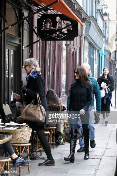 Actress Teri Hatcher is spotted on 'Place des Petits Peres' on March 22 2017 in Paris France