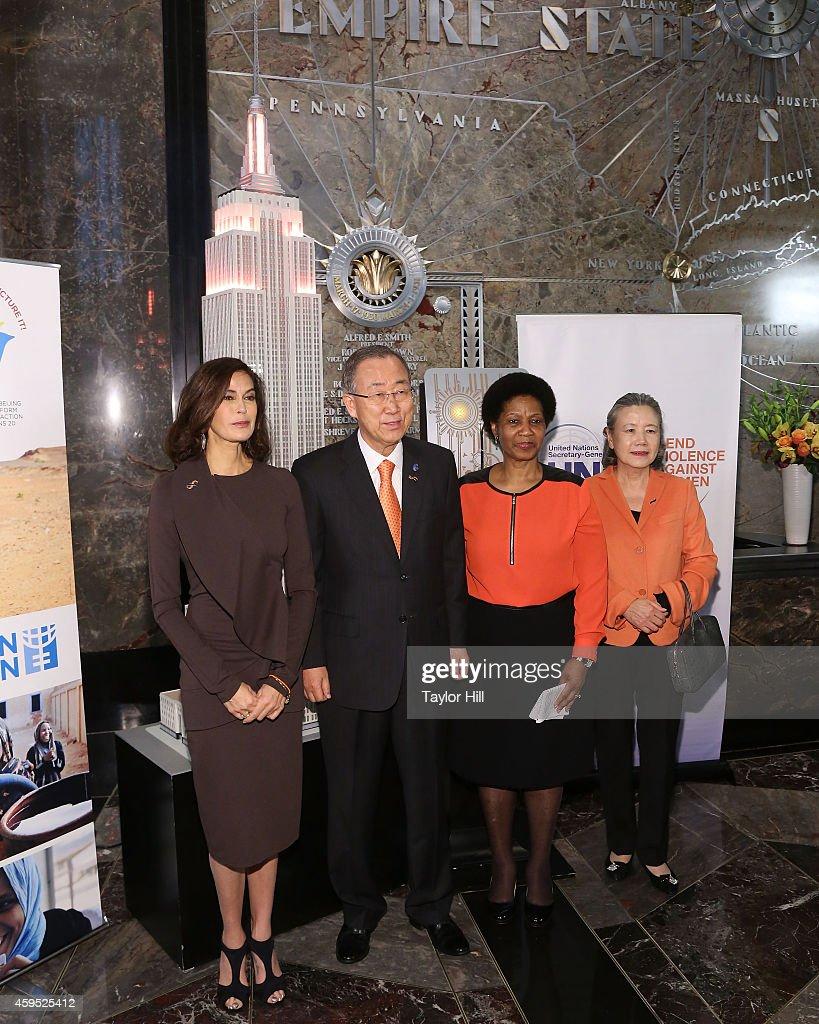 Teri Hatcher, Ban Ki-moon and Phumzile Mlambo-Ngcuka Light ...