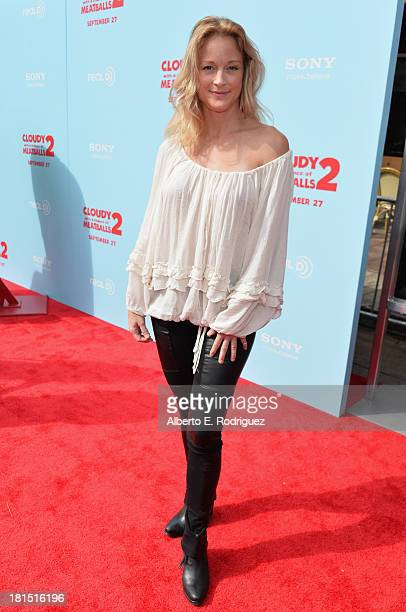 Actress Teri Polo arrives to the premiere of Columbia Pictures and Sony Pictures Animation's 'Cloudy With A Chance of Meatballs 2' at the Regency...