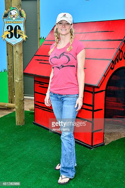 Actress Teri Polo attends Camp Snoopy's 30th anniversary VIP party at Knott's Berry Farm on June 26 2014 in Buena Park California