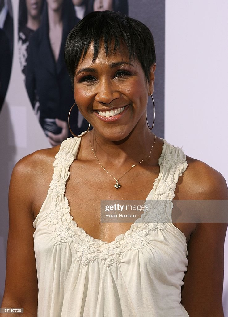 Actress Terri J. Vaughn poses at Lionsgate's Premiere Of 'Why Did I Get Married?' held at The Cinerama Dome, Arclight Hollywood on October 4, 2007 in Los Angeles, California.