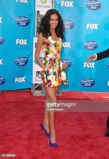 Actress Terri Seymour arrives at the American Idol Season 7 Grand Finale on May 21 2008 at the Nokia Theatre in Los Angeles California