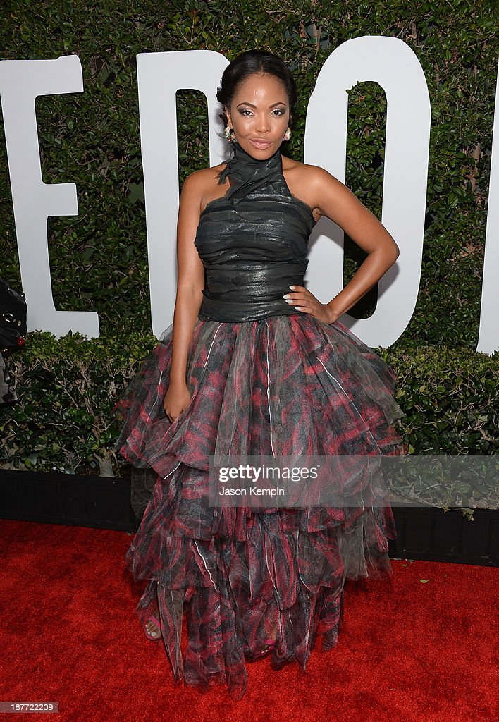 Actress Terry Pheto attends the premiere of The Weinstein Company's 'Mandela: Long Walk To Freedom' at ArcLight Cinemas on November 11, 2013 in Hollywood, California.